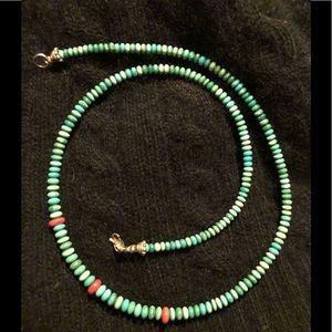 Sundance beaded necklace with silver clasp